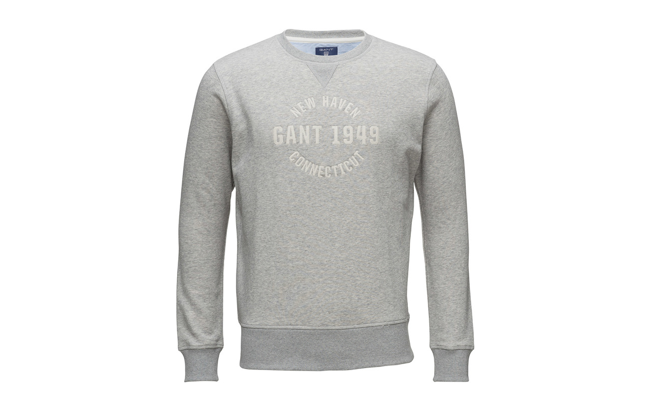 Gant Graphic Eggshell Emb Op2 Sweat neck C ZTqZpwr