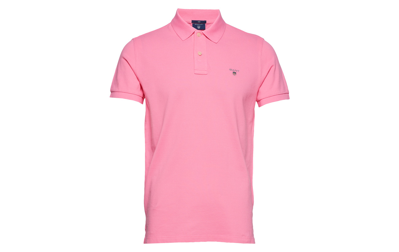 The Polos Pique Ss Pink Lipstick Gant Original Rugger Fitted gqdgYBw