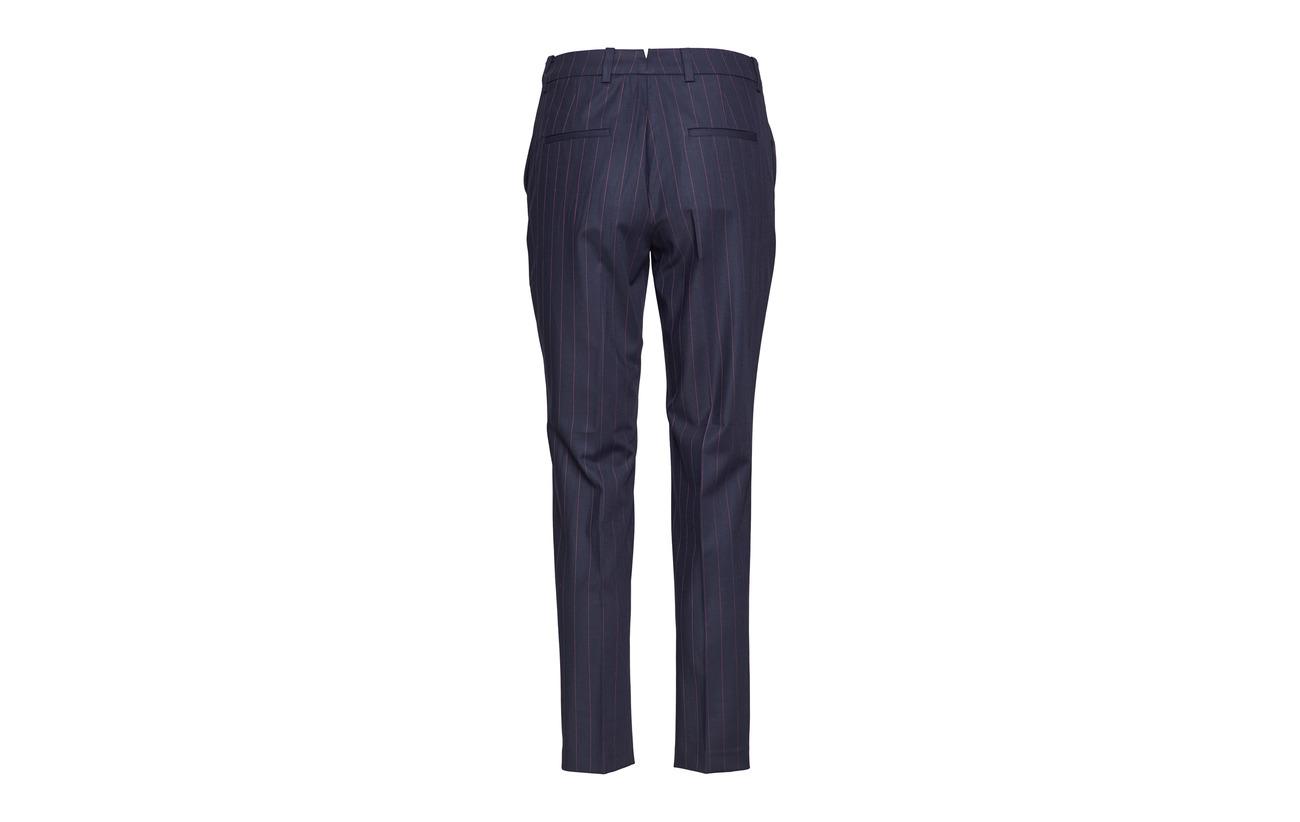 G2 washable Gant 6 Elastane Pants 28 Marine Pinstripe Polyester Viscose 66 dgxqFB