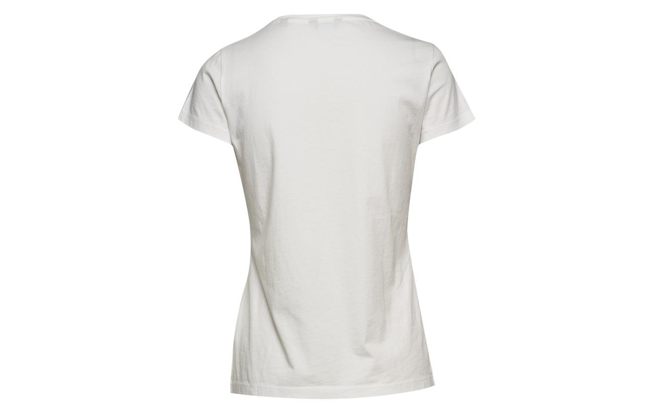 Capsleeve Gant Logo Coton T Arch Eggshell 100 shirt OEa4qfTEw