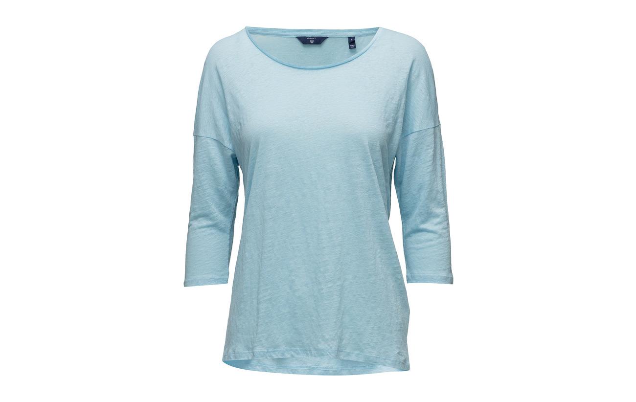 Linen 100 3 4 Blue O2 Gant Lin Équipement Sleeve Tunic Mint 5qv6xEwH