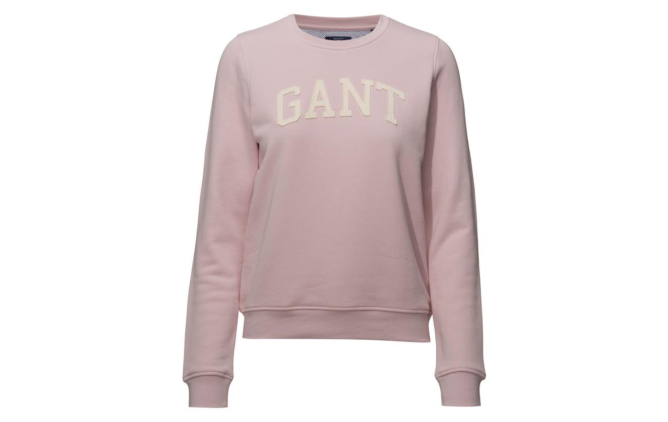 90 O1 Coton Grey Melange Logo Sweat 10 Polyester Gant Arch nvBZfwqWwU