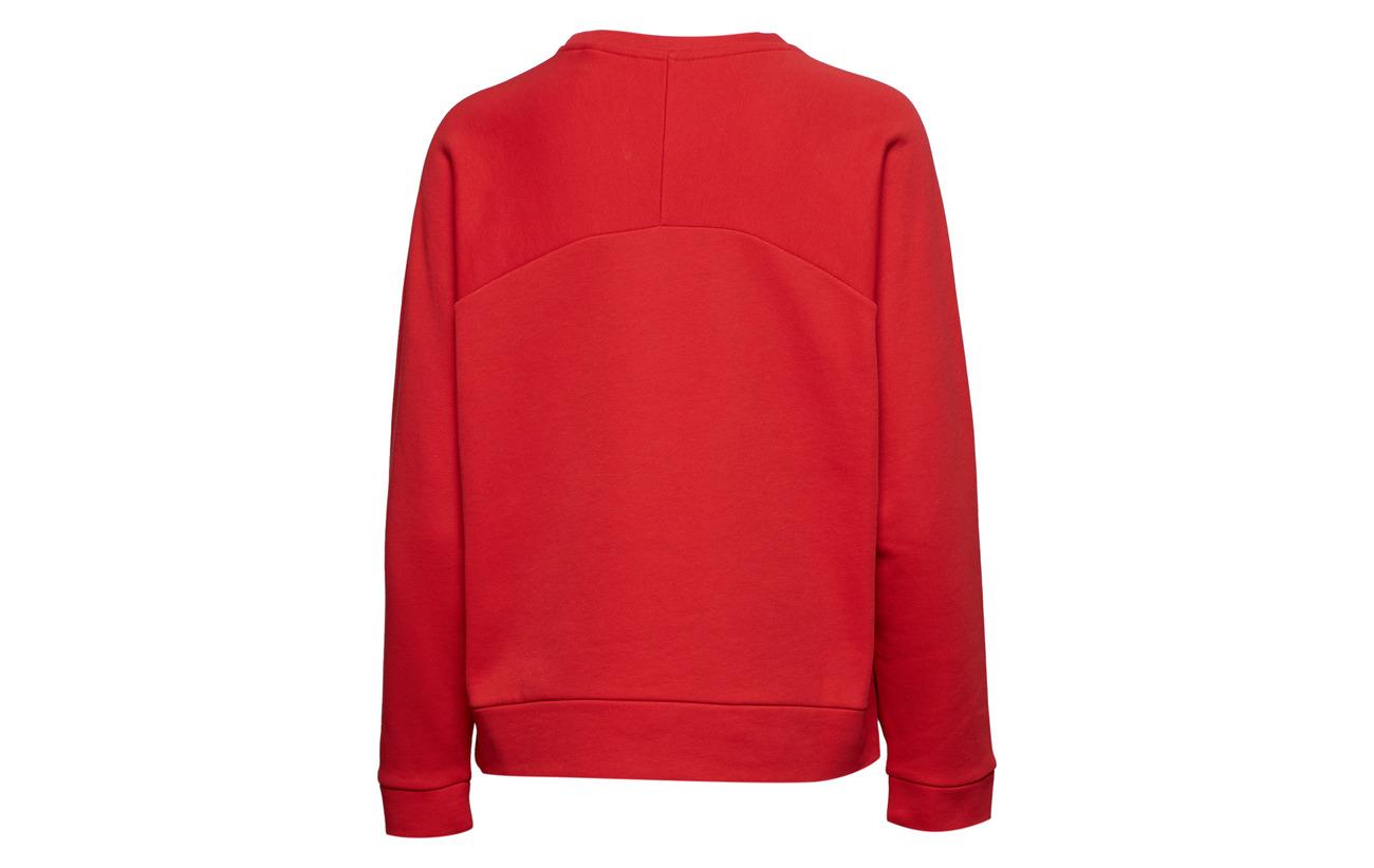 O1 C Polyester Ski 10 90 Coton neck Red Bright Sweat Gant SqdBwS