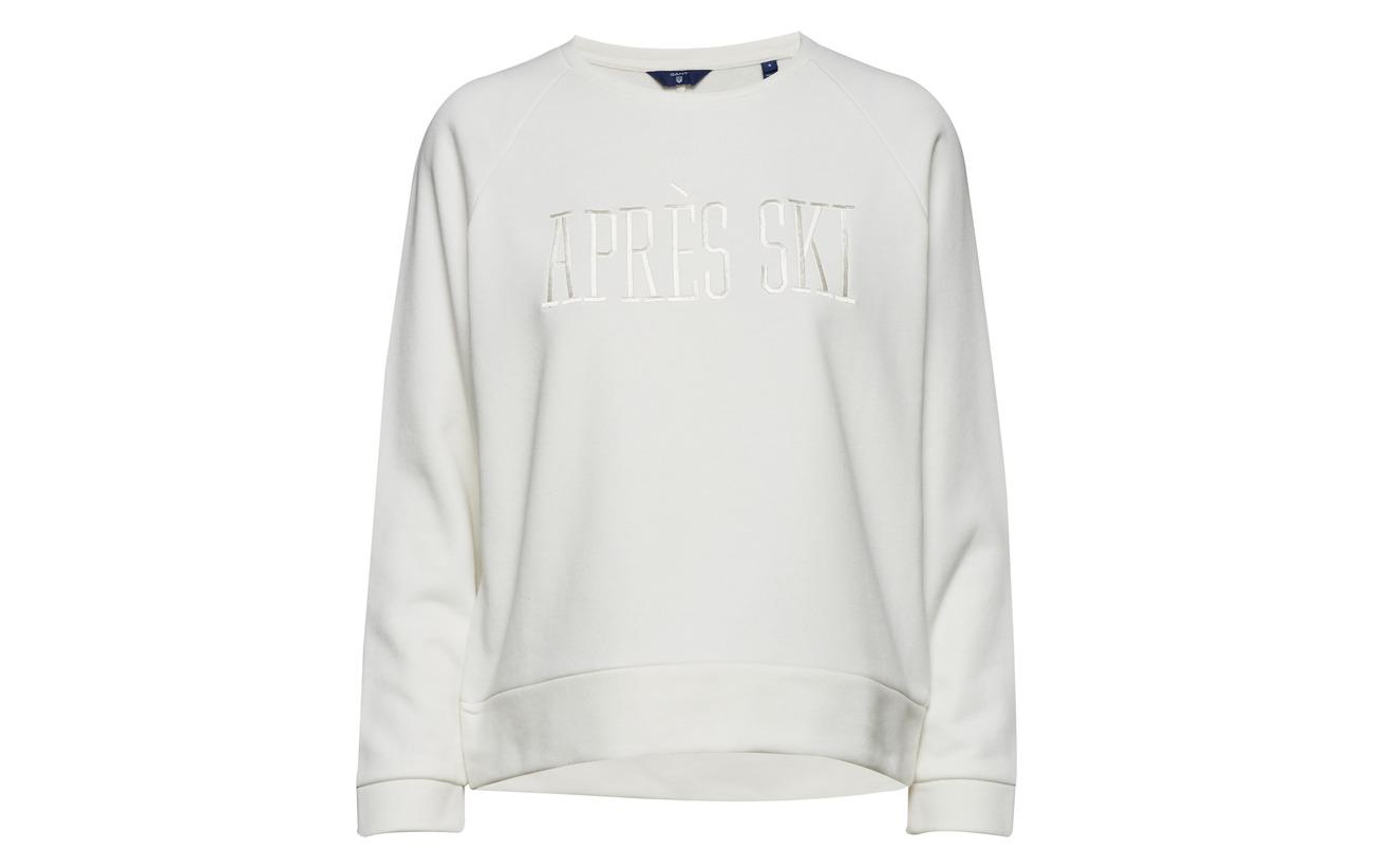 neck Polyester Coton 10 O1 Gant 90 Sweat C Ski Marine tzBxTwSq
