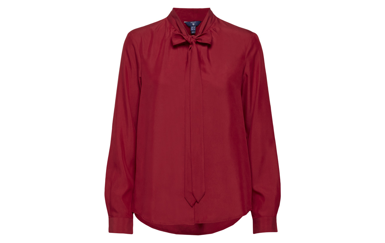 Gant O2 77 Blouse Peached Wine Polyester Smu Bow Winter 23 Modale qqRr1H