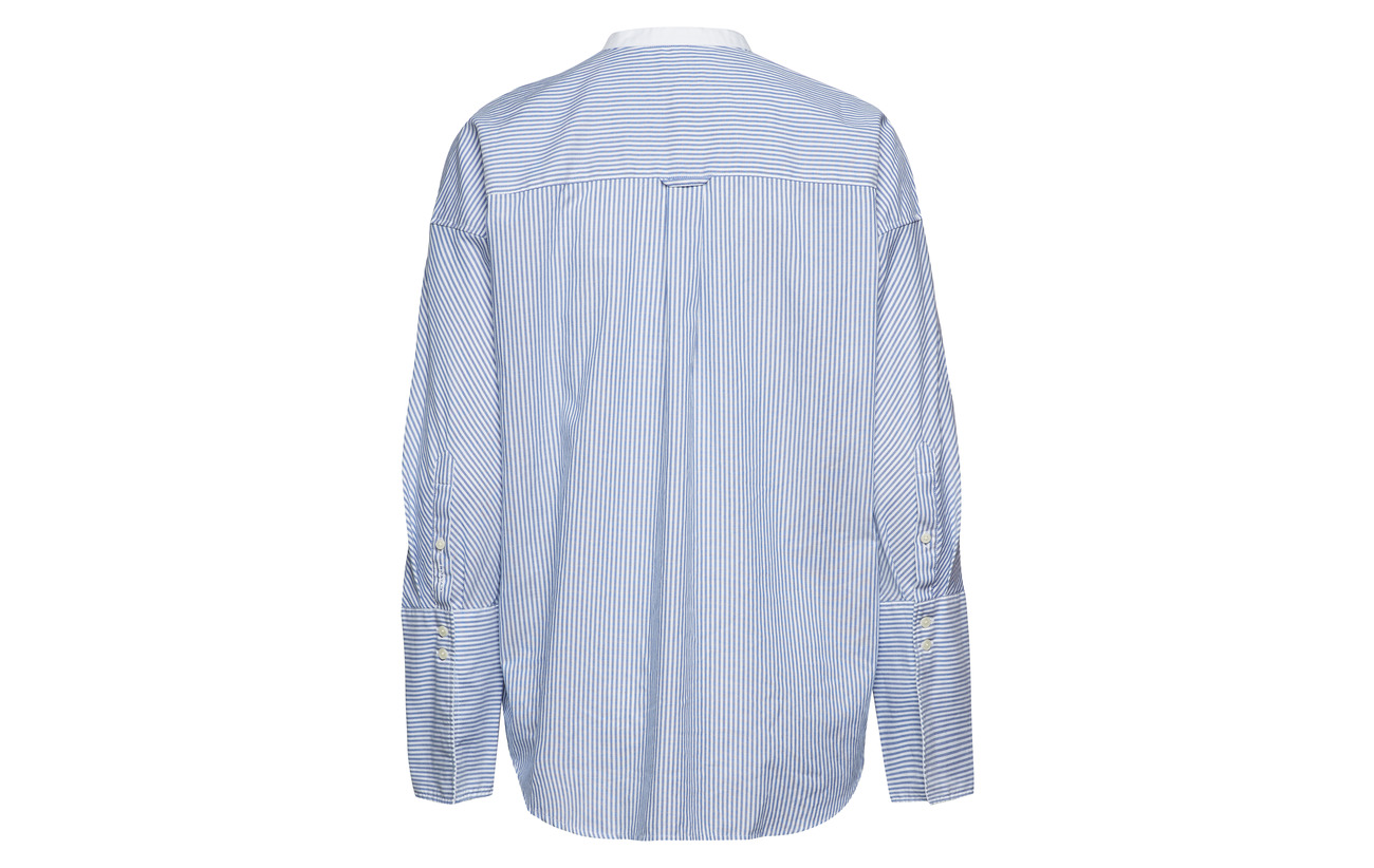 Oversized Oxford O1 Polyester Blue Tp Coton 74 Gant 26 Shirt College HE7ZEwq