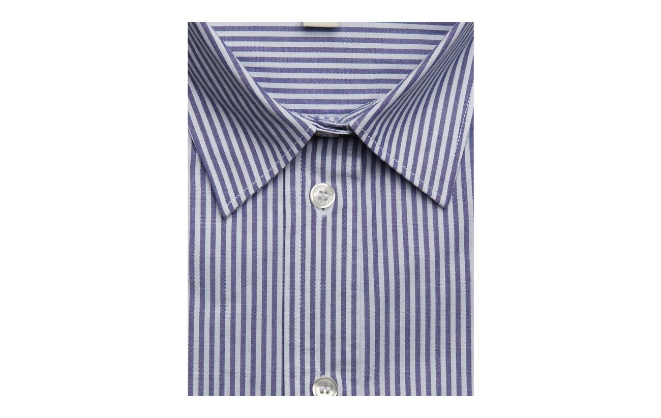 Banker Blue Stretch 97 Gant 3 Coton Broadcloth Elastane Stripe College pxnxBdX