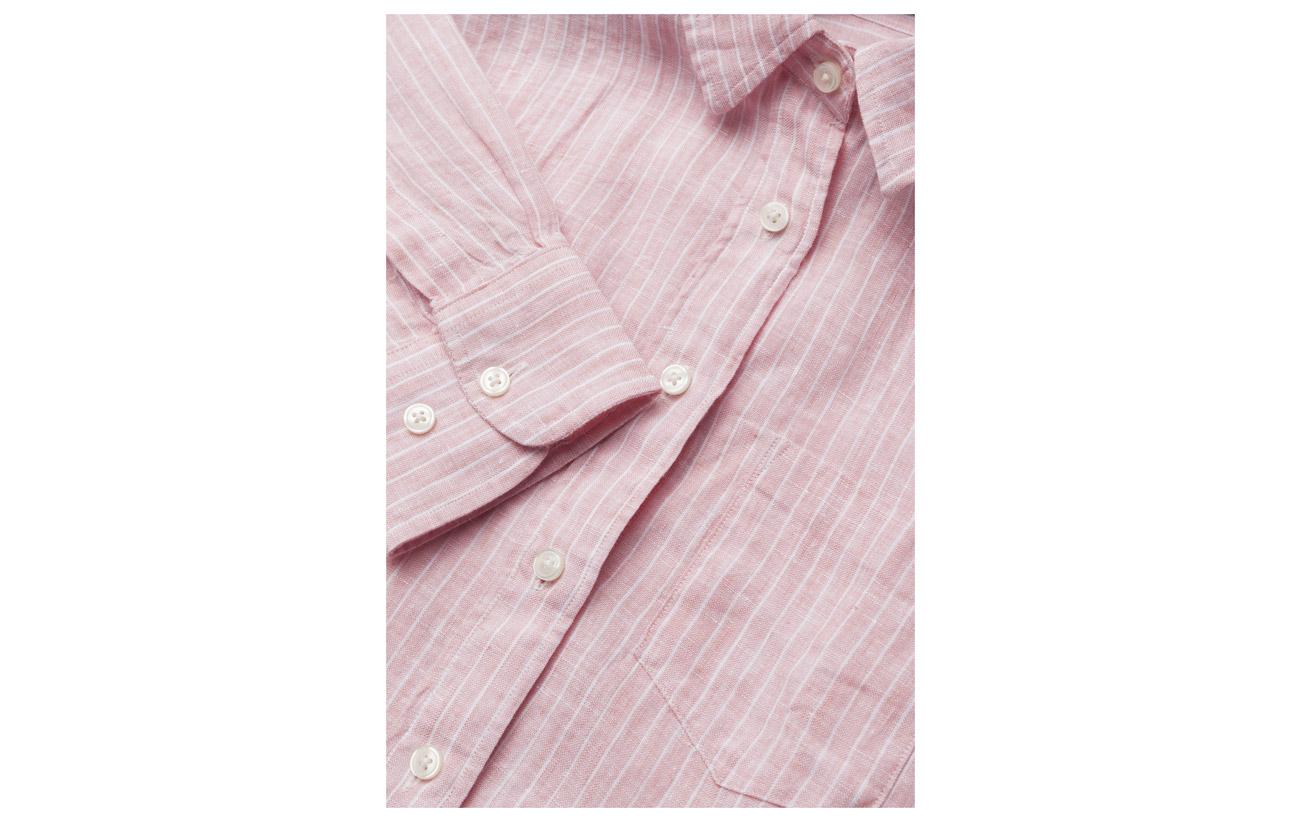 Shirt Équipement Linen Lin 100 O2 Striped Pink Gant Long Strawberry q6pIw