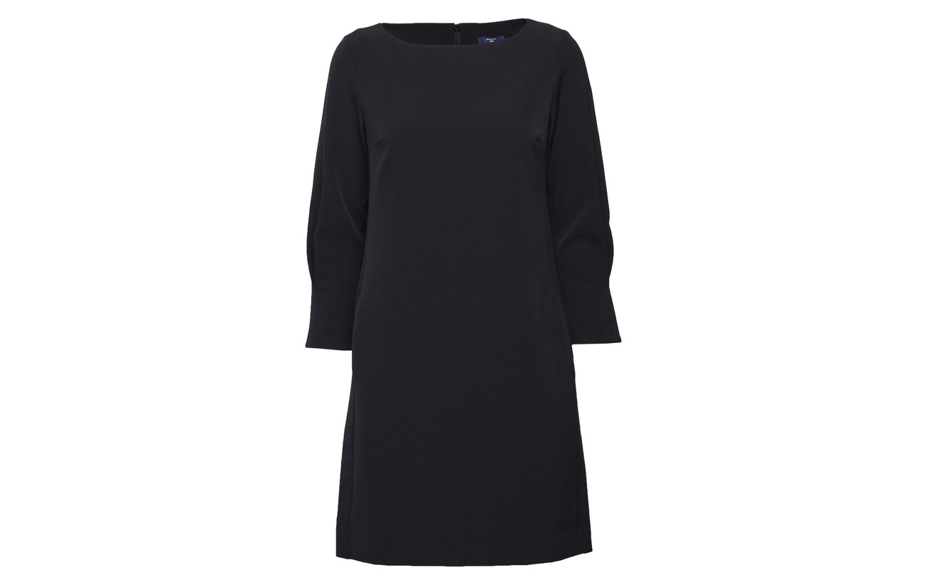 Polyester O1 92 elastane 8 Dress Gant little Black TqdwIIF