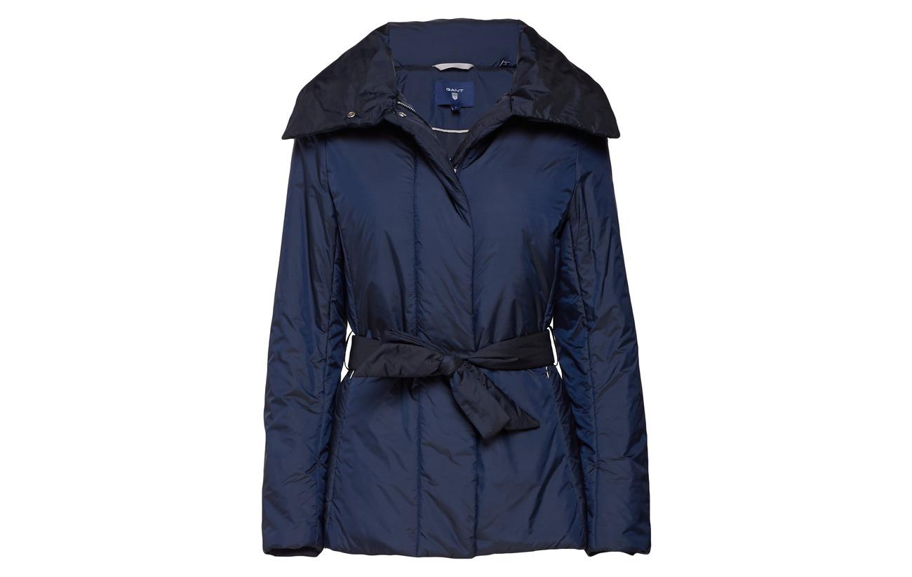 Gant Jacket Blue Evening Polyamide O1 Padded 100 Belted UUxwTpSaqR