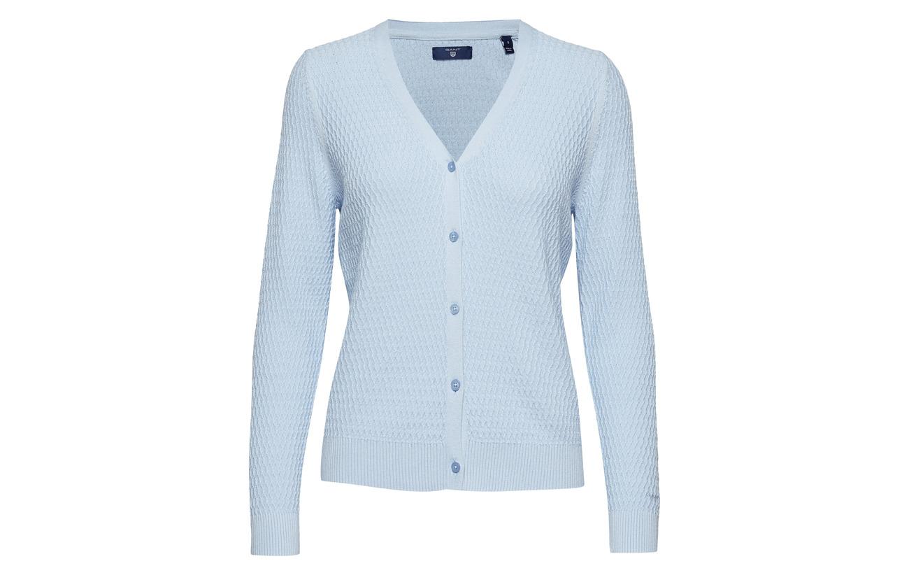 Lyocell 80 Textured Coton 20 Periwinkle Blue O2 Gant Cardigan wZx1fPnq