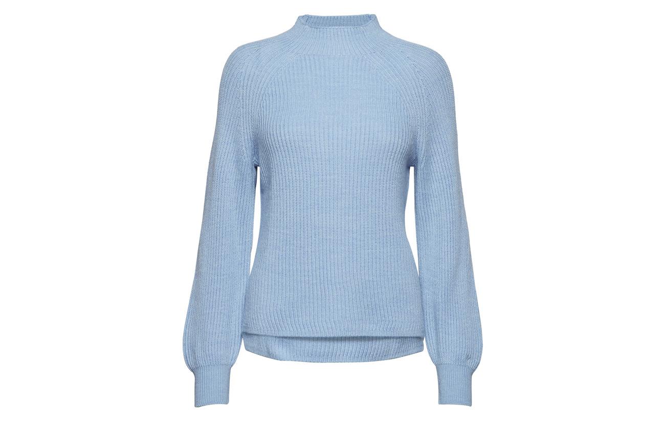 Gant O2 Blue merinowool 100 Mockneck Hamptons Ribbed Laine ZZ1wnqzrx