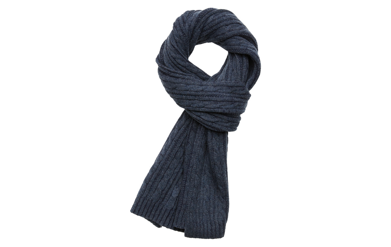 Gant D2. WINTER FADED KNIT SCARF - EVENING BLUE