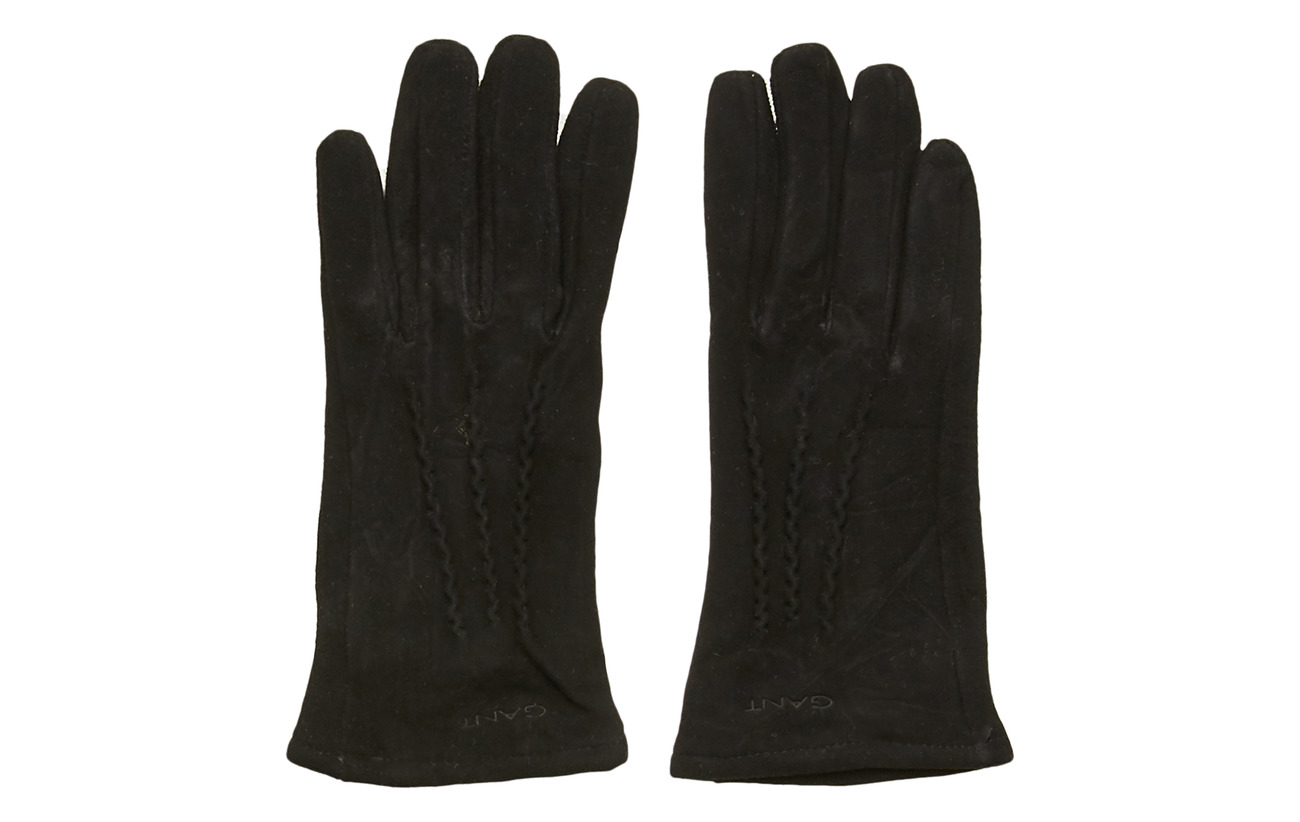 Gant D1. SUEDE GLOVES - BLACK
