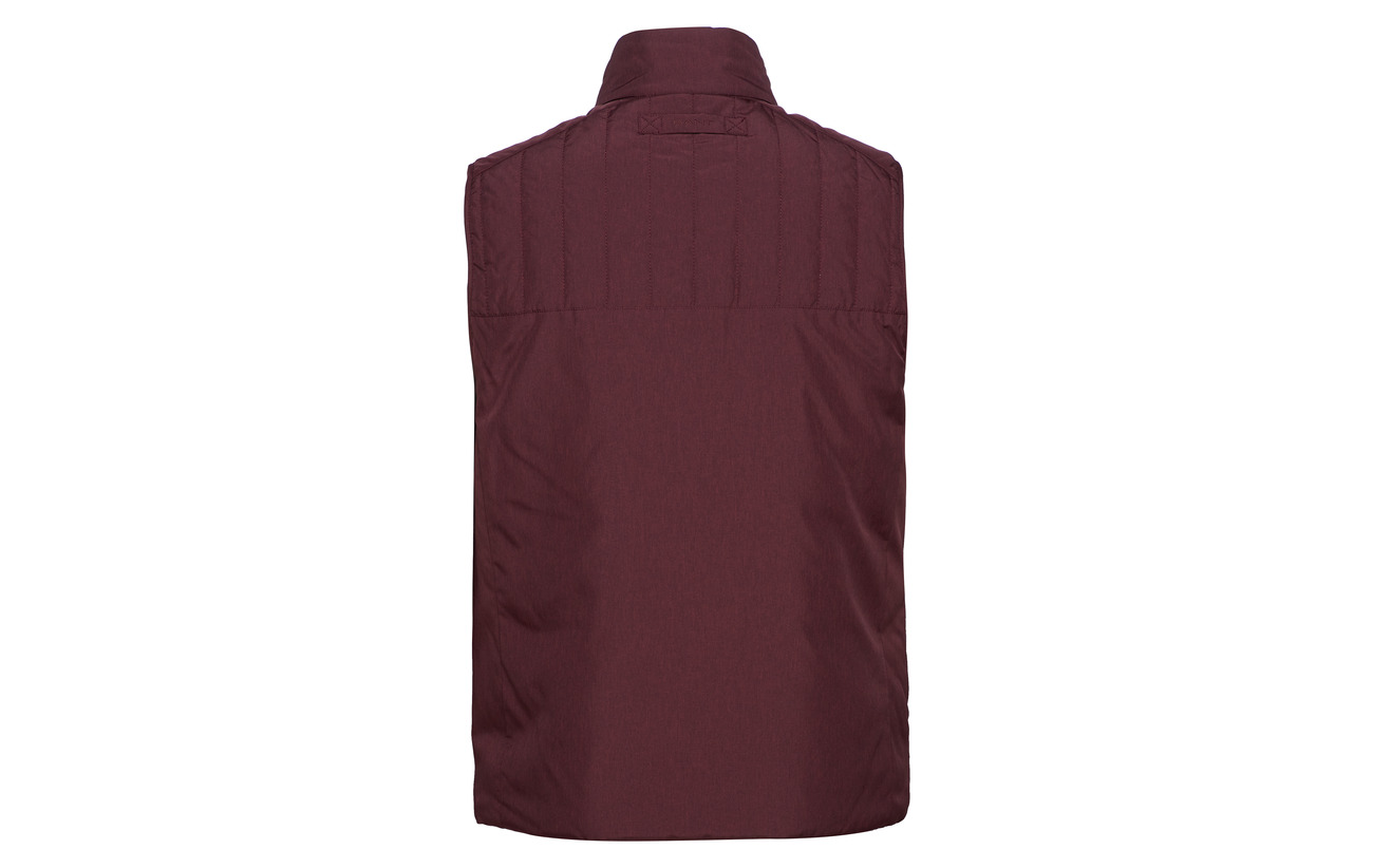 Padded Vest The Mahogny Red O2 Gant TOaWcEa