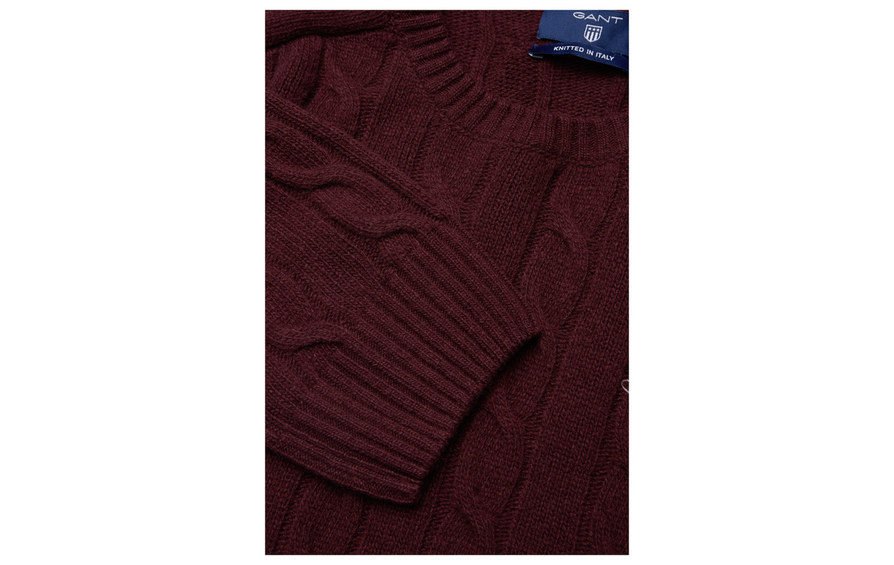 Crew Gant Cable Red Lambswool O3 Raspberry FqrFng0v