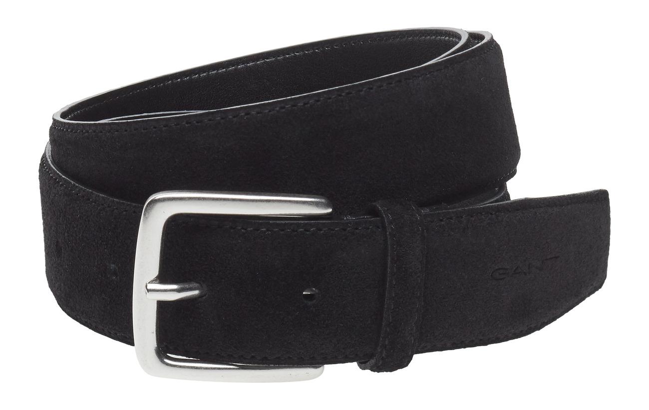 Gant CLASSIC SUEDE BELT - BLACK