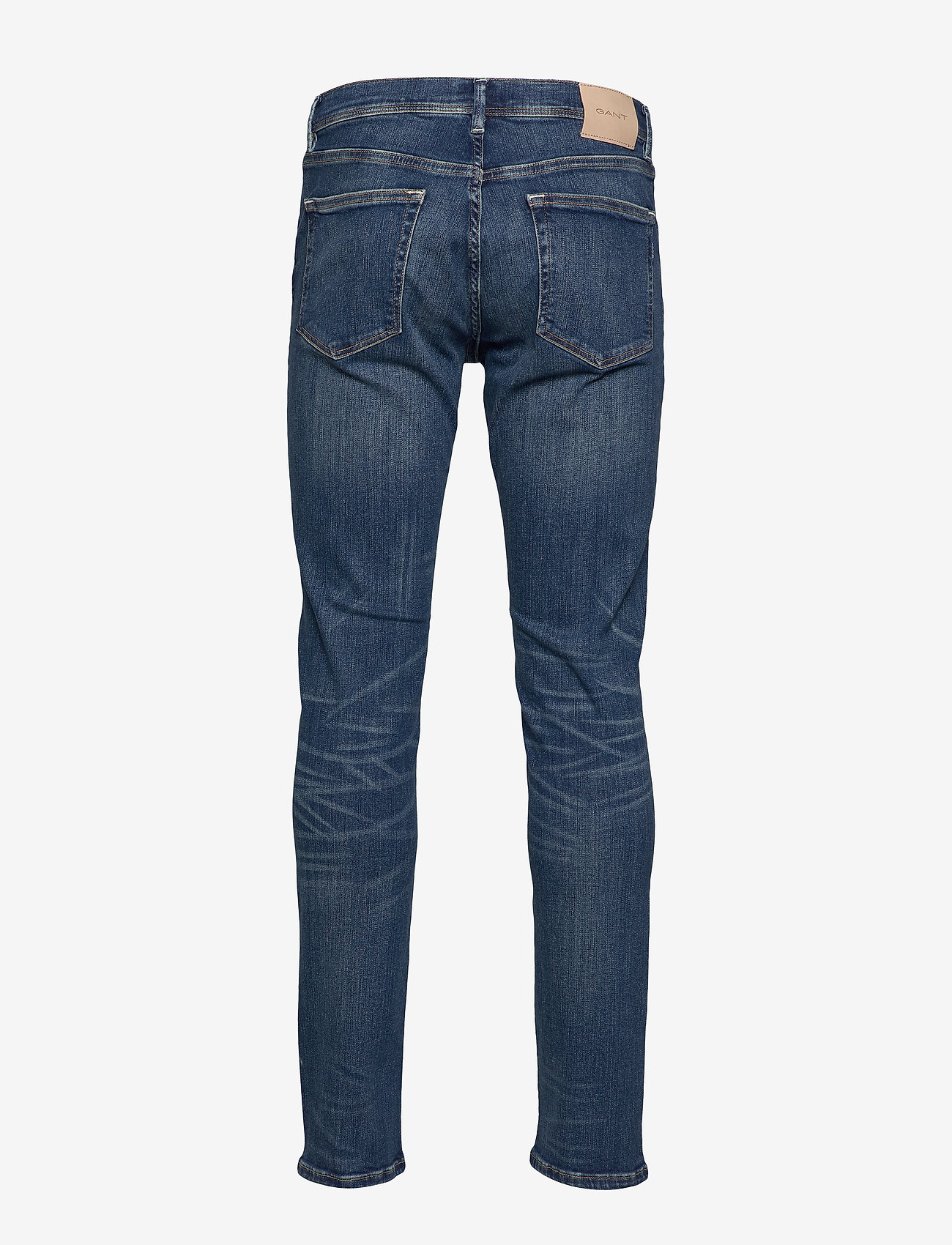 GANT - D1. SLIM ACTIVE-RECOVER JEANS - slim jeans - dark blue broken in - 1