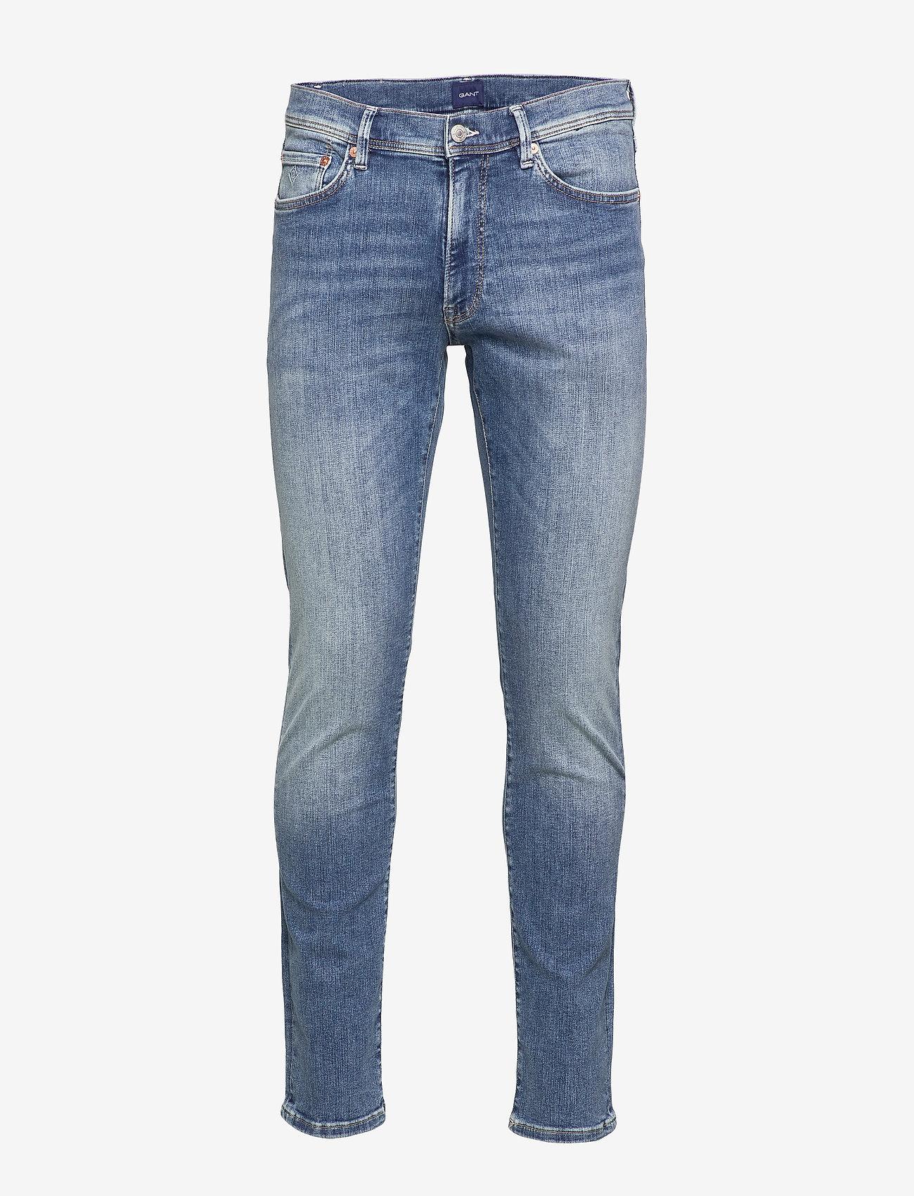 GANT - D1. SLIM ACTIVE-RECOVER JEANS - slim jeans - mid blue vintage - 0