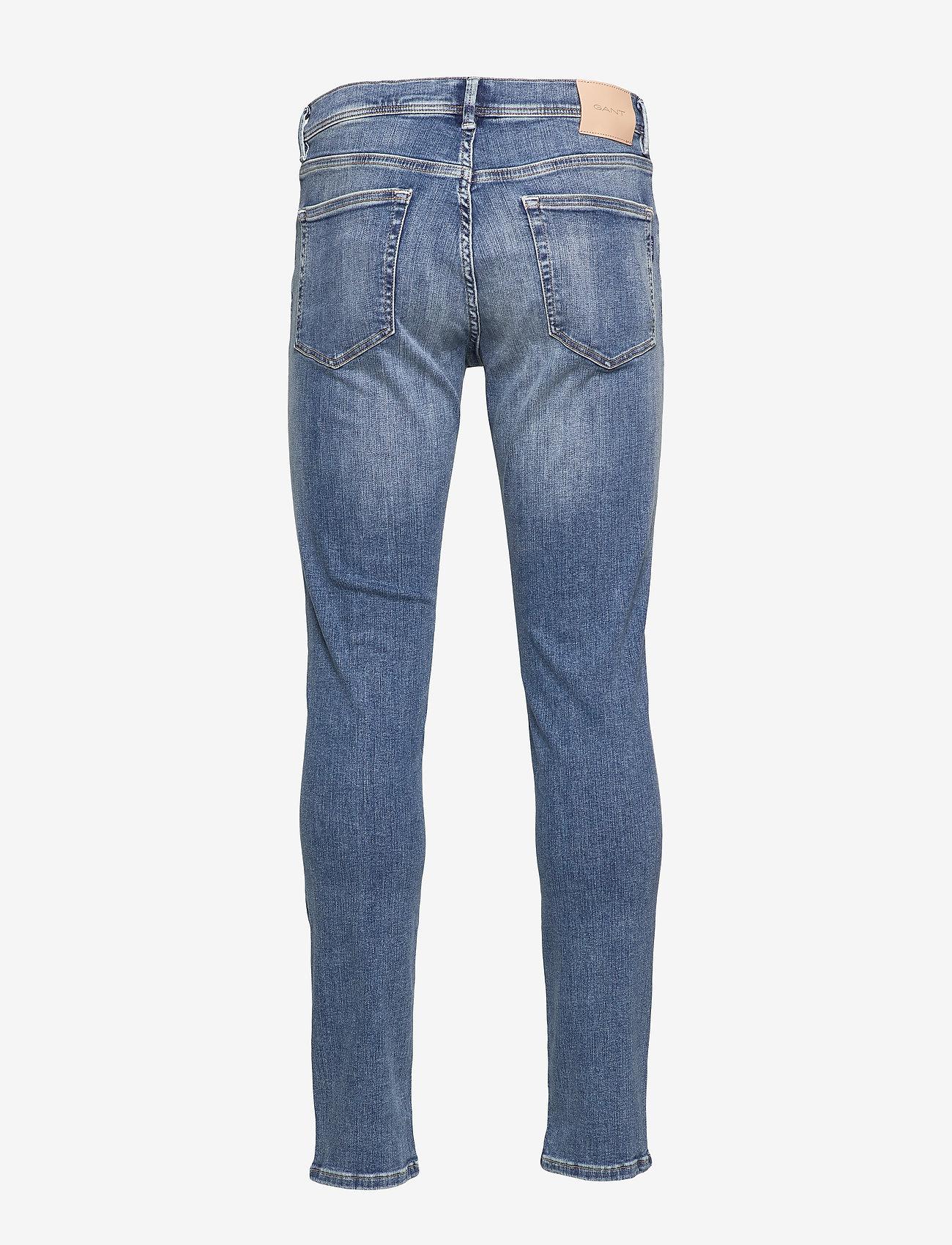 GANT - D1. SLIM ACTIVE-RECOVER JEANS - slim jeans - mid blue vintage - 1