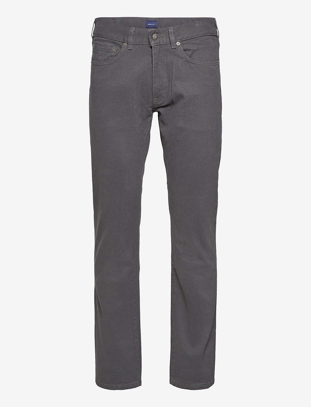 GANT - D2. REGULAR SOFT TWILL JEANS - regular jeans - antracite - 0