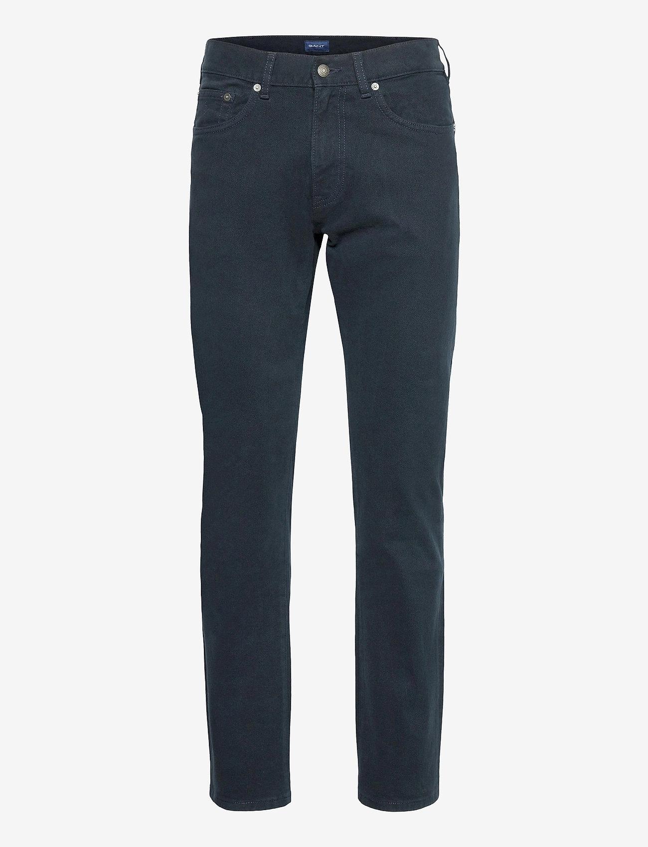 GANT - D2. REGULAR SOFT TWILL JEANS - regular jeans - navy - 0