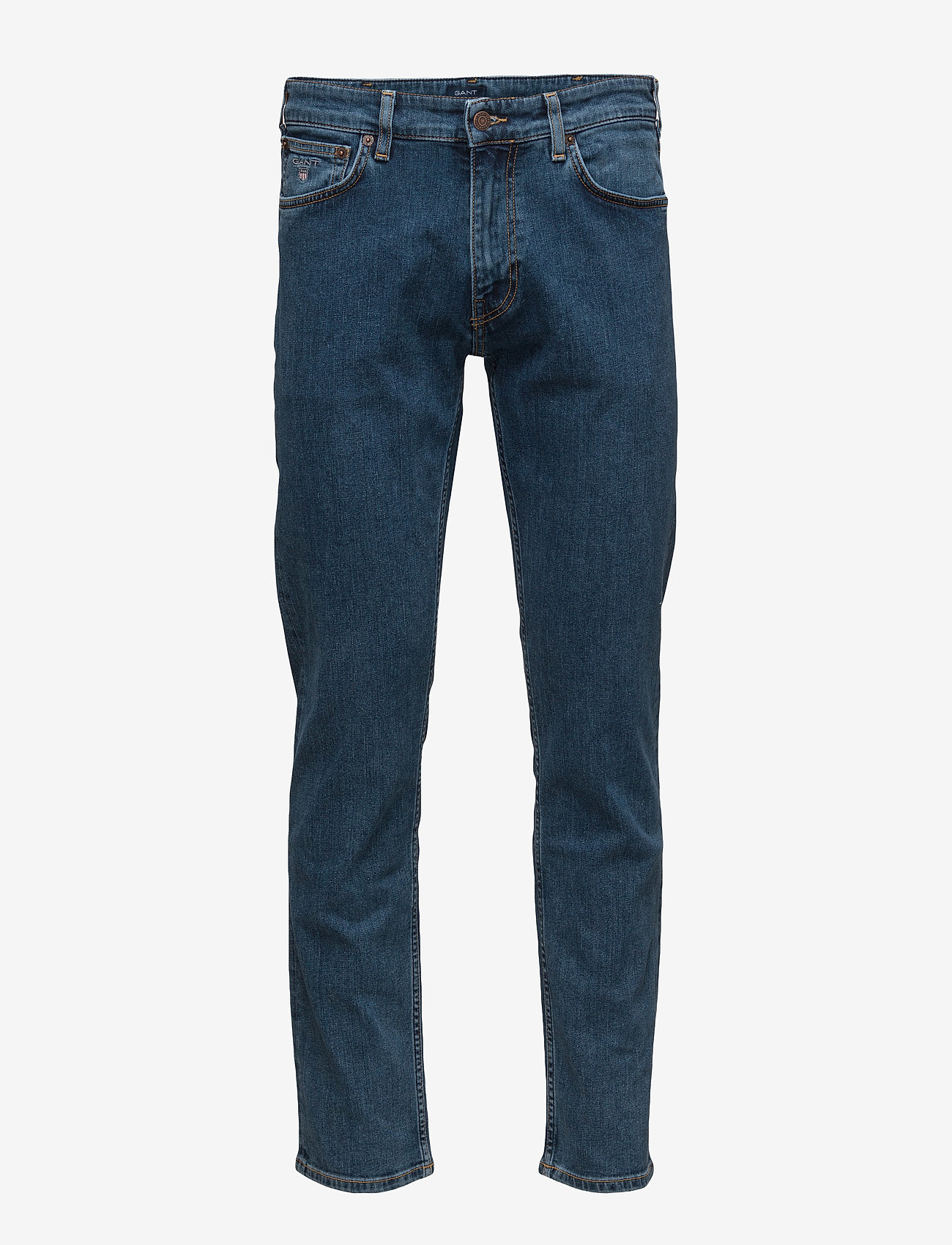 GANT - D1. REGULAR 11 OZ JEANS - regular jeans - mid blue - 1
