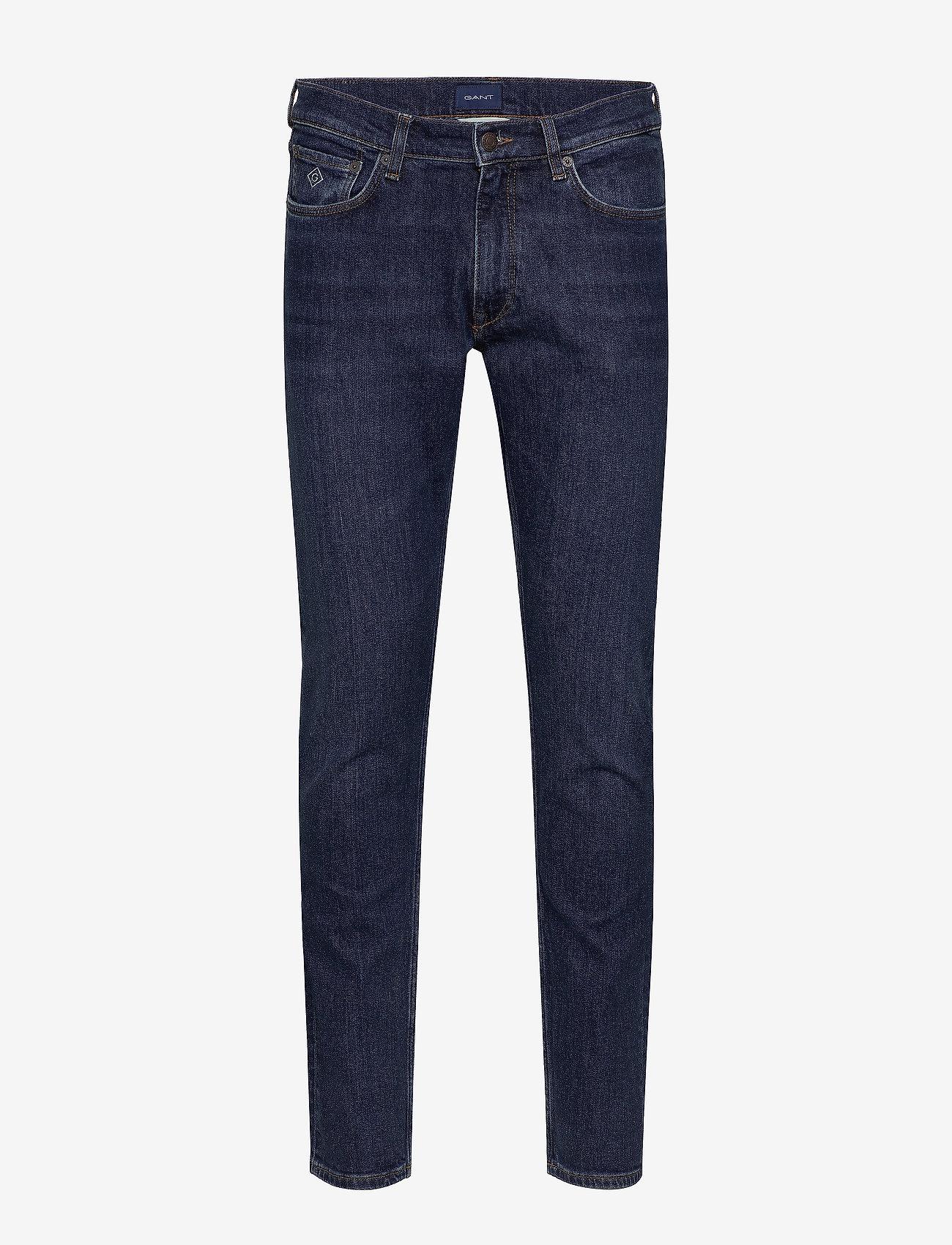 GANT - D1. TAPERED GANT JEANS - slim jeans - dark blue worn in - 0