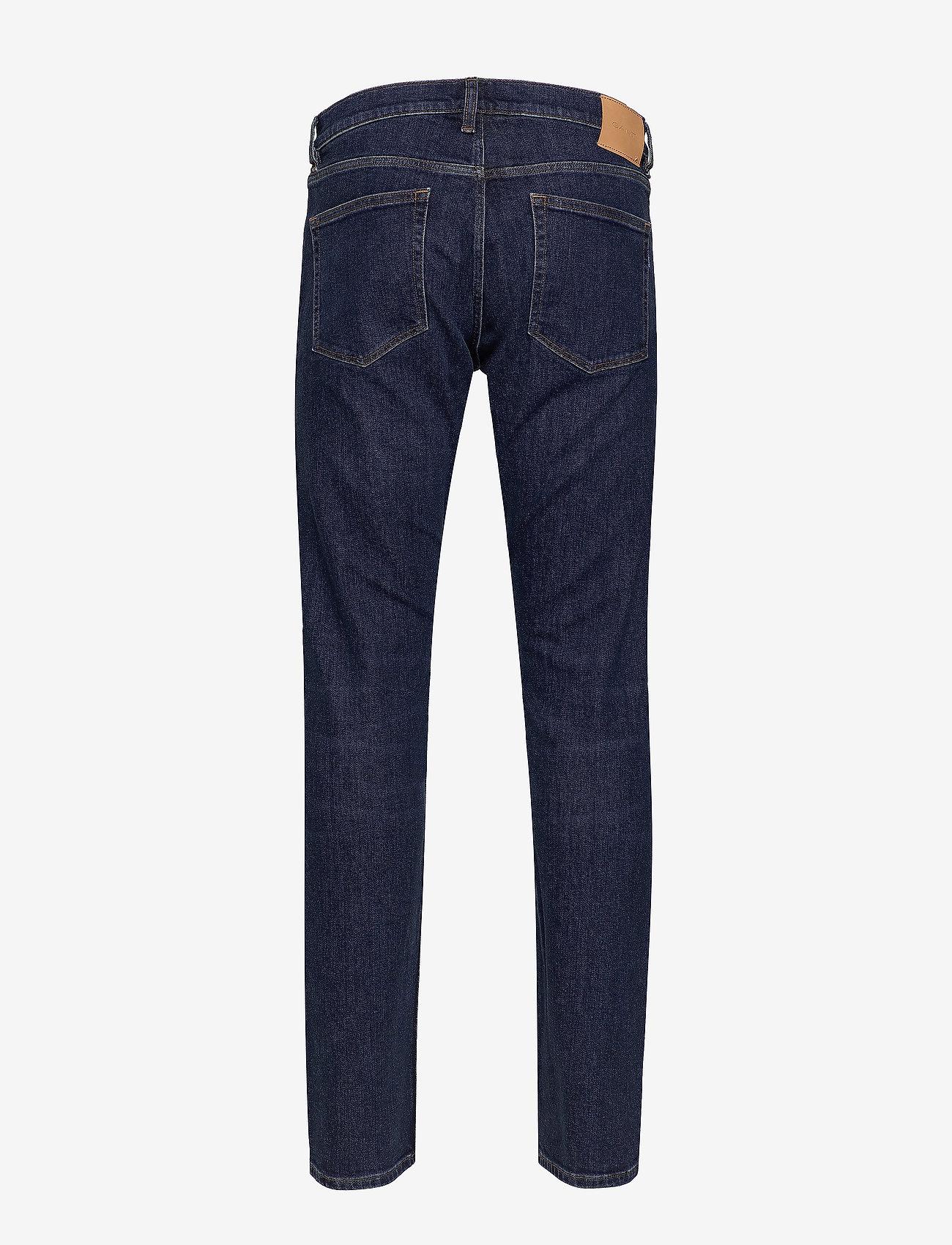 GANT - D1. TAPERED GANT JEANS - slim jeans - dark blue worn in - 1