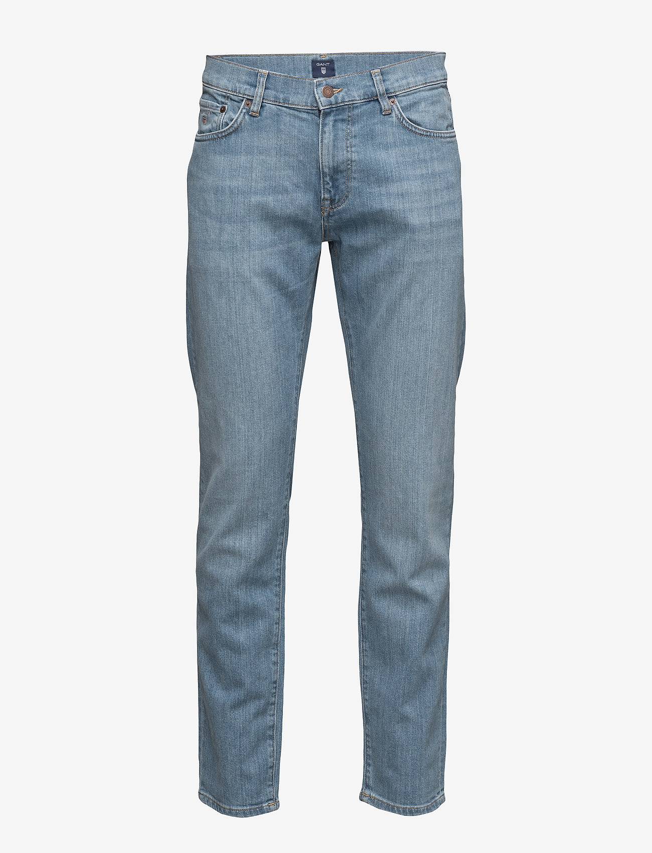 GANT - SLIM GANT JEANS - slim jeans - semi light indigo worn in - 0
