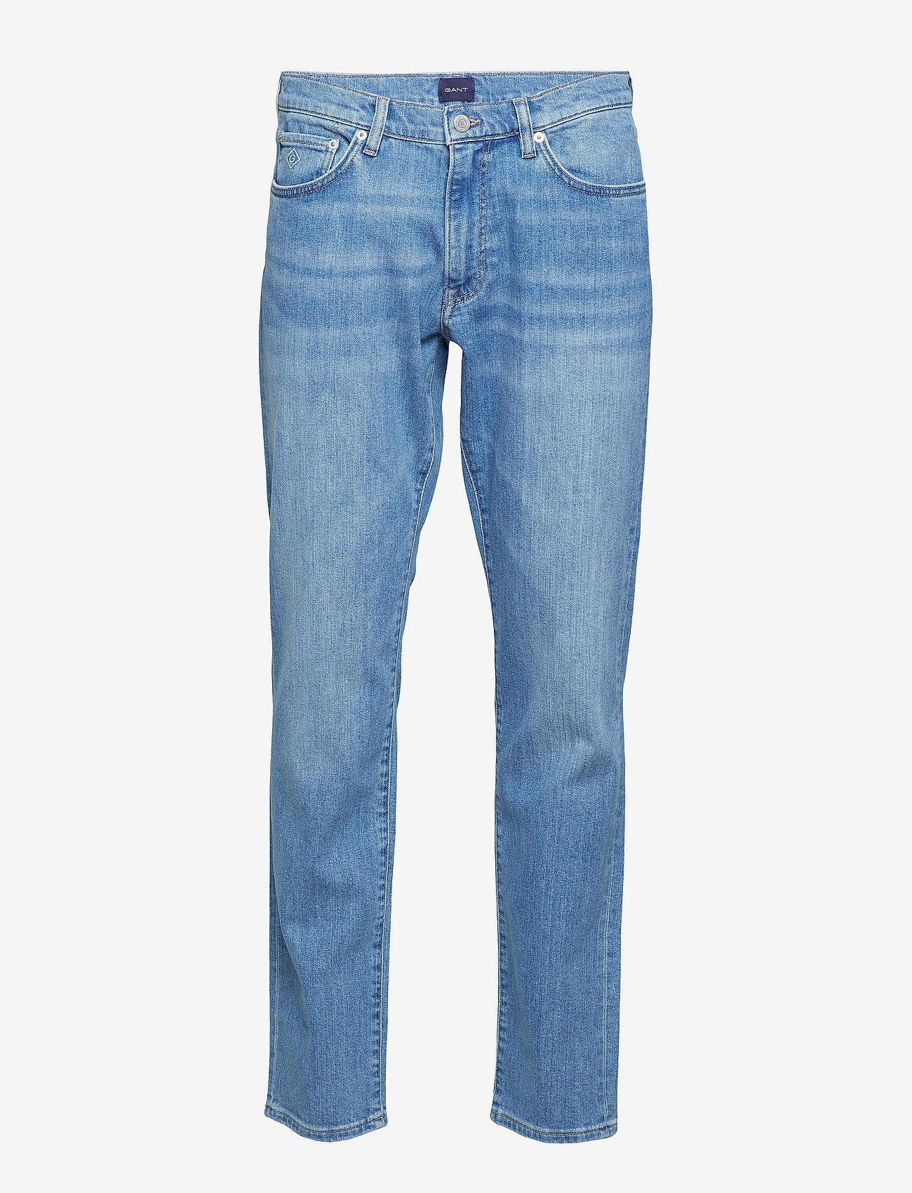 Gant - SLIM GANT JEANS - slim jeans - light blue worn in