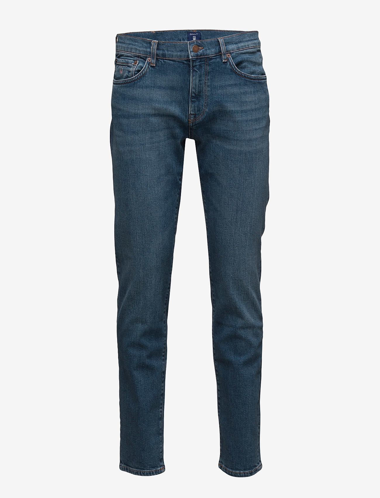 GANT - SLIM GANT JEANS - slim jeans - mid blue worn in - 0