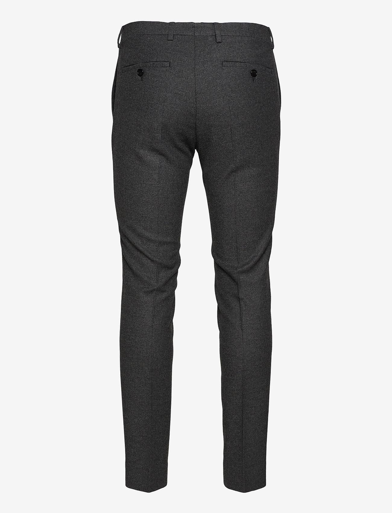 GANT - D1. SLIM FLANNEL SUIT PANT - suit trousers - charcoal melange - 1