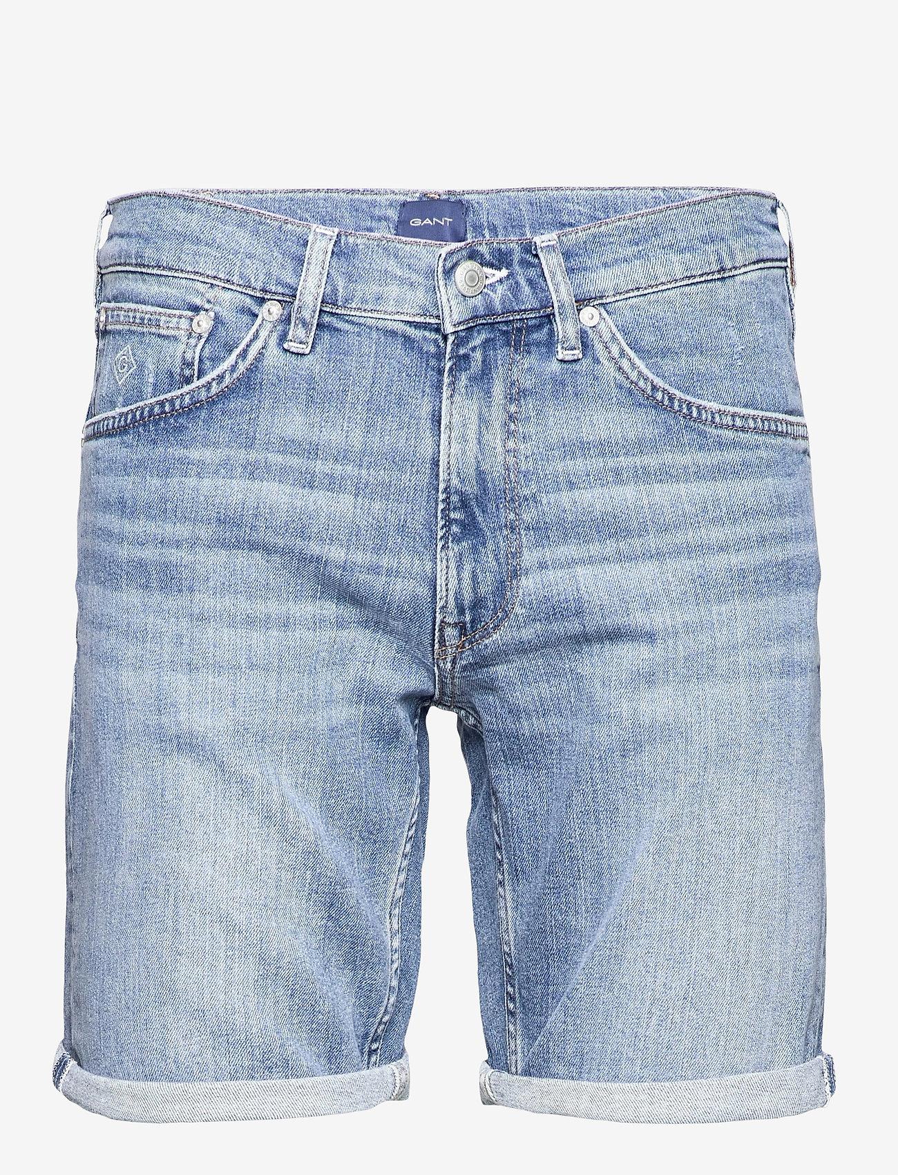 GANT - D1. REGULAR GANT JEANS SHORTS - denim shorts - light blue vintage - 0