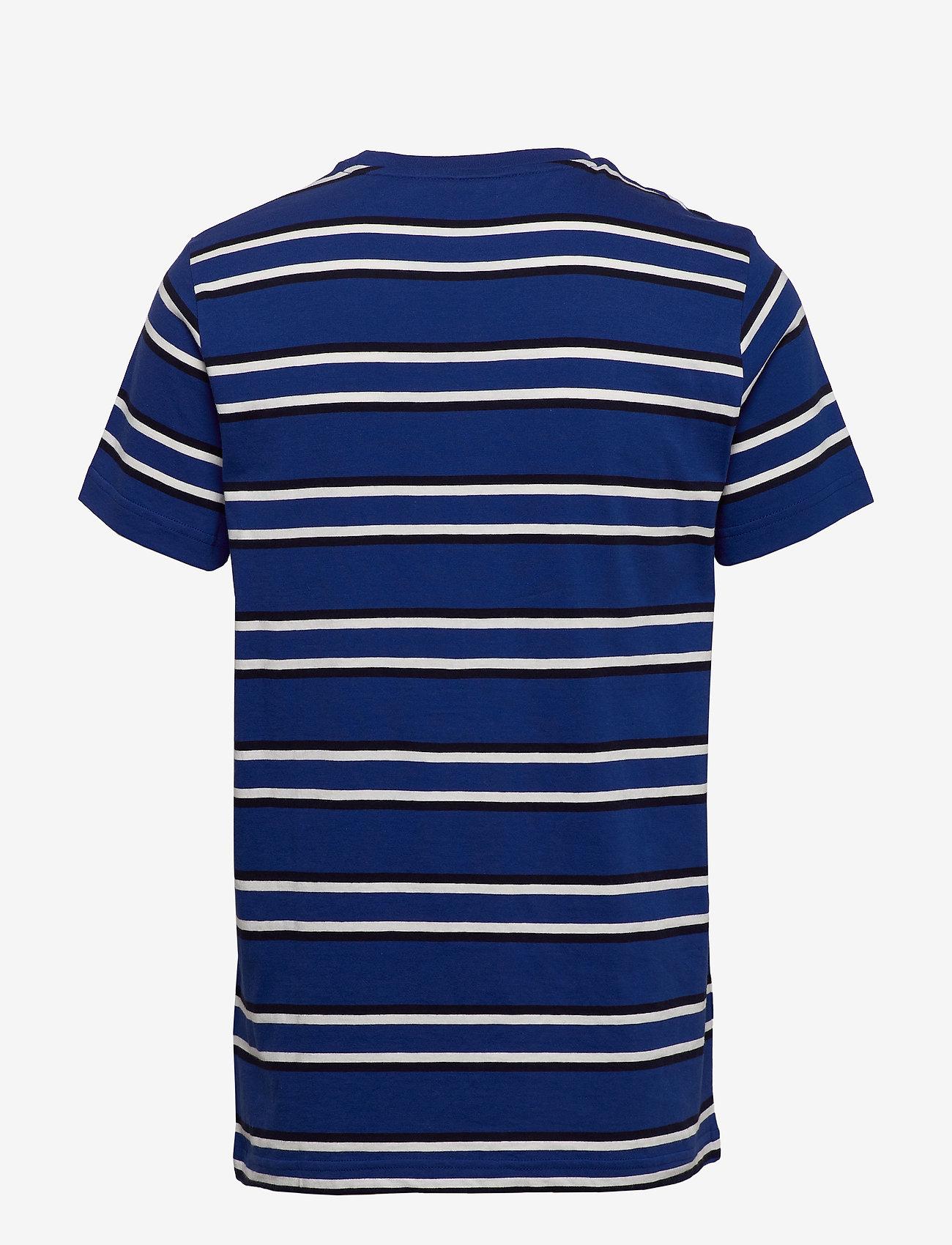 GANT - D1. MULTI STRIPE SS T-SHIRT - short-sleeved t-shirts - crisp blue - 1