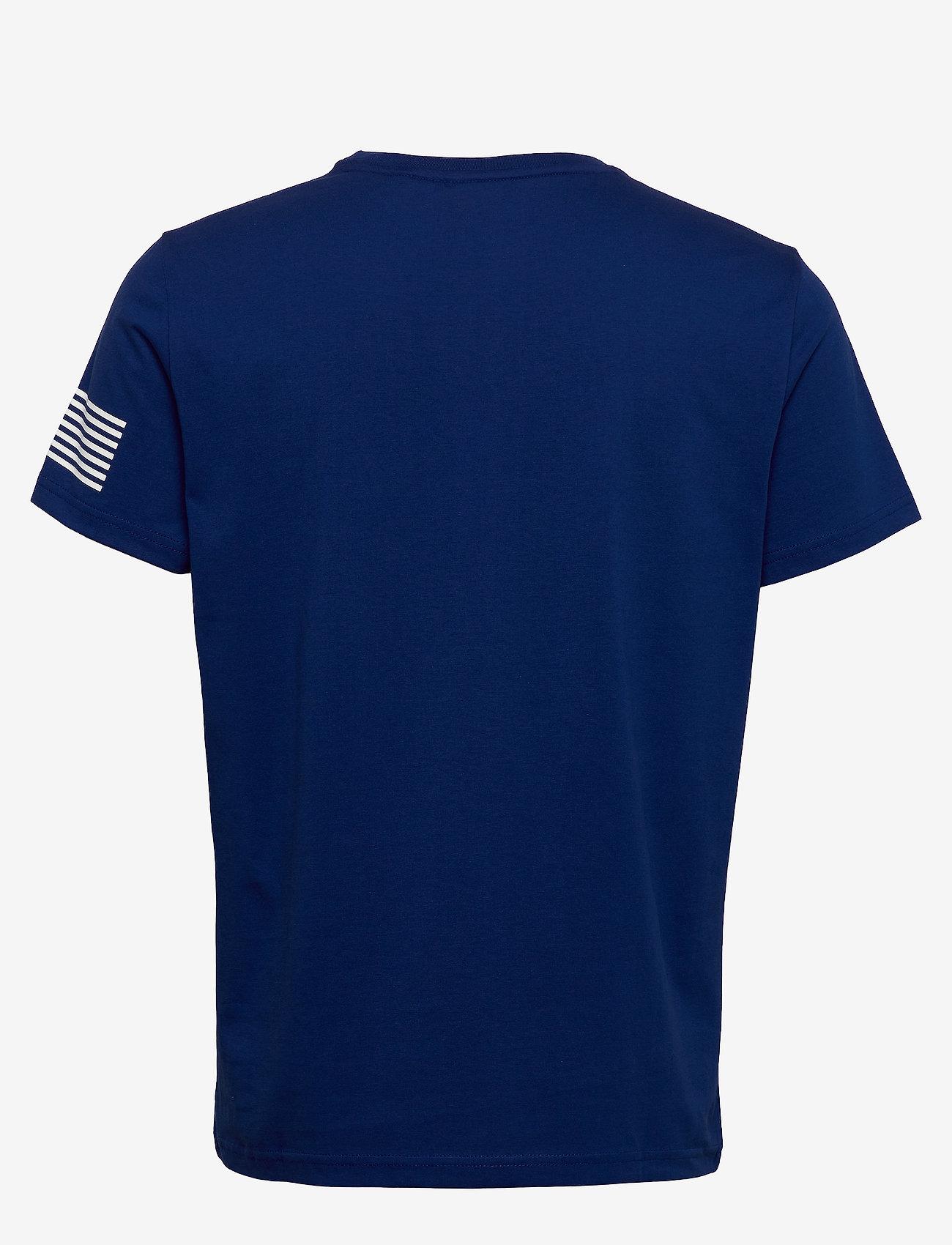 GANT - D1. 13 STRIPES SS T-SHIRT - short-sleeved t-shirts - crisp blue - 1