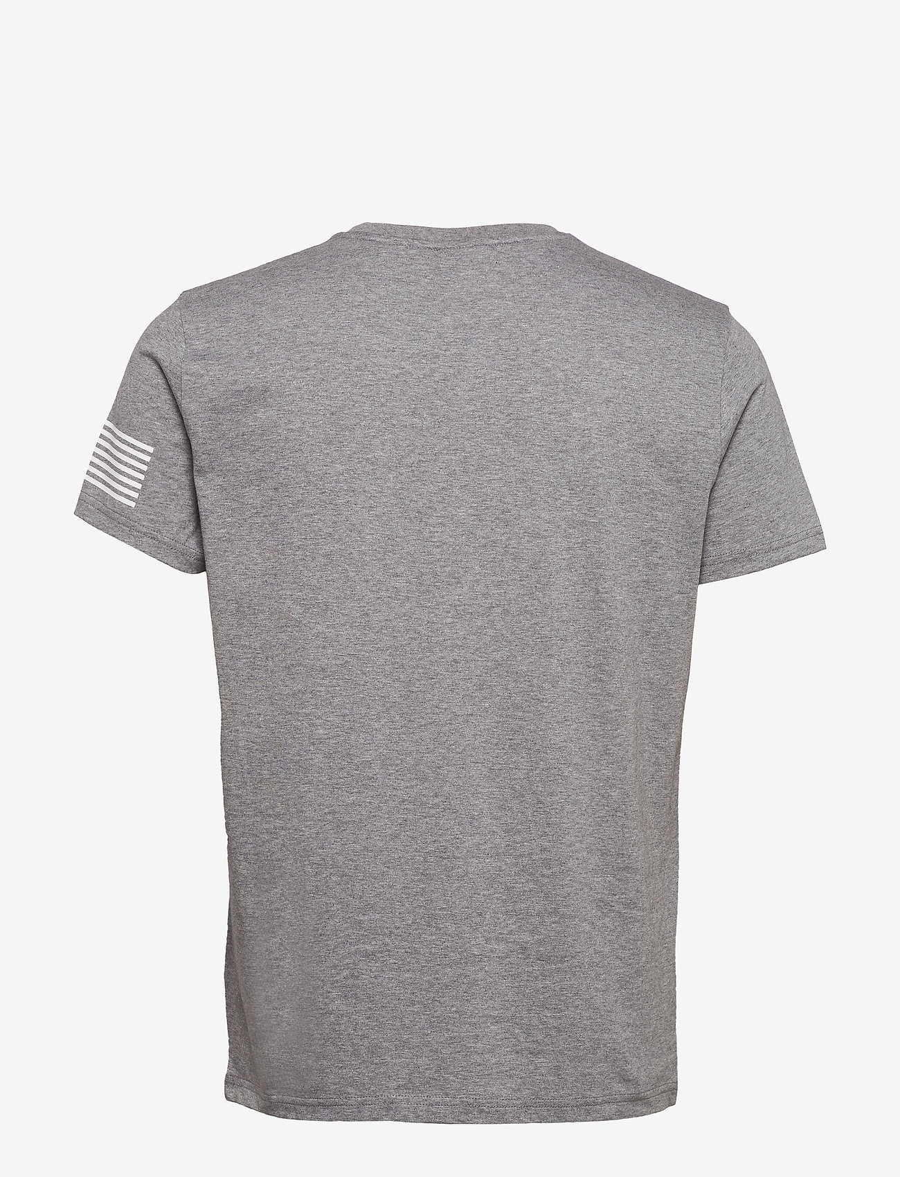 GANT - D1. 13 STRIPES SS T-SHIRT - short-sleeved t-shirts - grey melange - 1