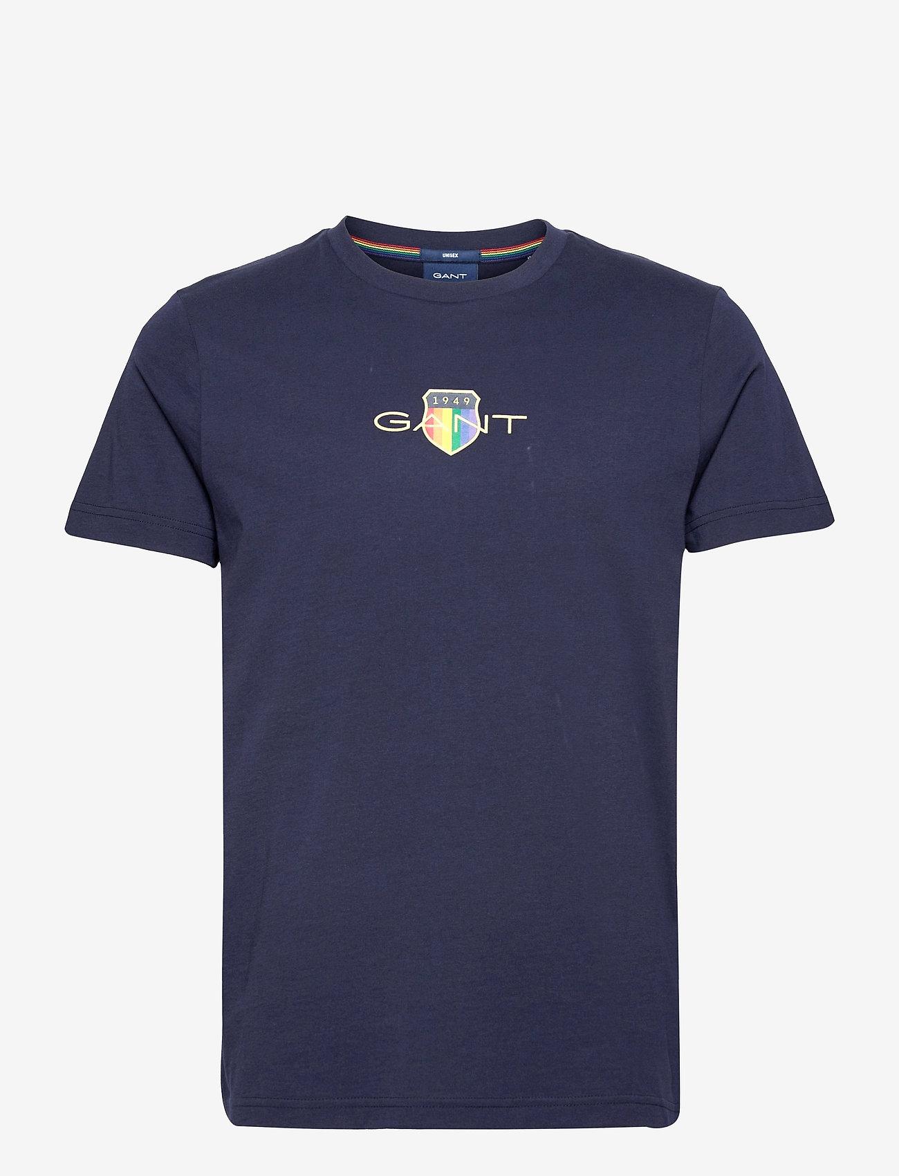 GANT - PRIDE. SS T-SHIRT - short-sleeved t-shirts - classic blue - 0