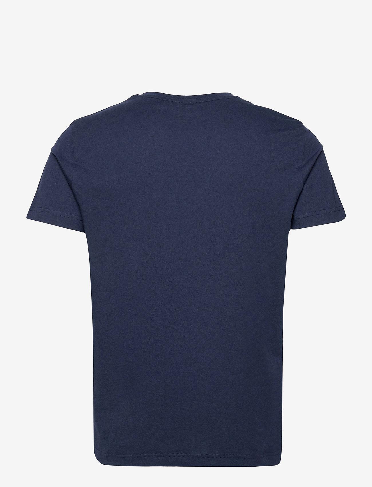 GANT - MD. FALL SS T-SHIRT - short-sleeved t-shirts - evening blue - 1