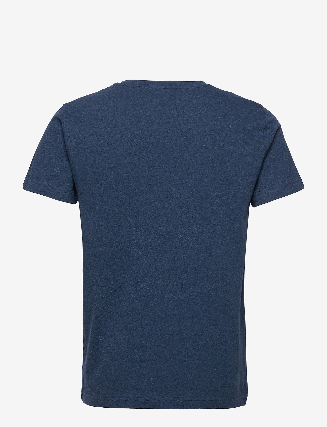 GANT - MD. FALL SS T-SHIRT - short-sleeved t-shirts - marine melange - 1