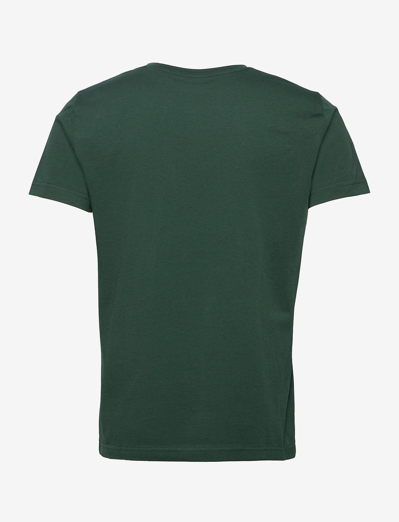 GANT - MD. FALL SS T-SHIRT - short-sleeved t-shirts - tartan green - 1