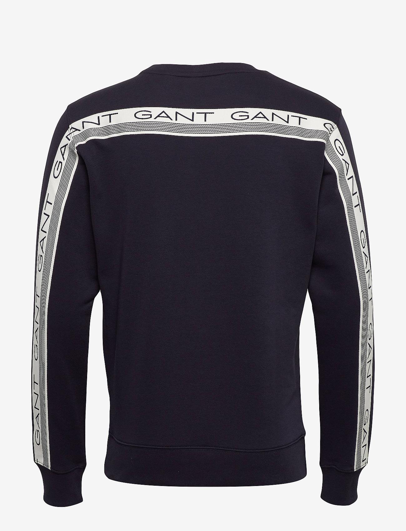 GANT D1. 13 STRIPES C-NECK SWEAT - Sweatshirts EVENING BLUE - Menn Klær
