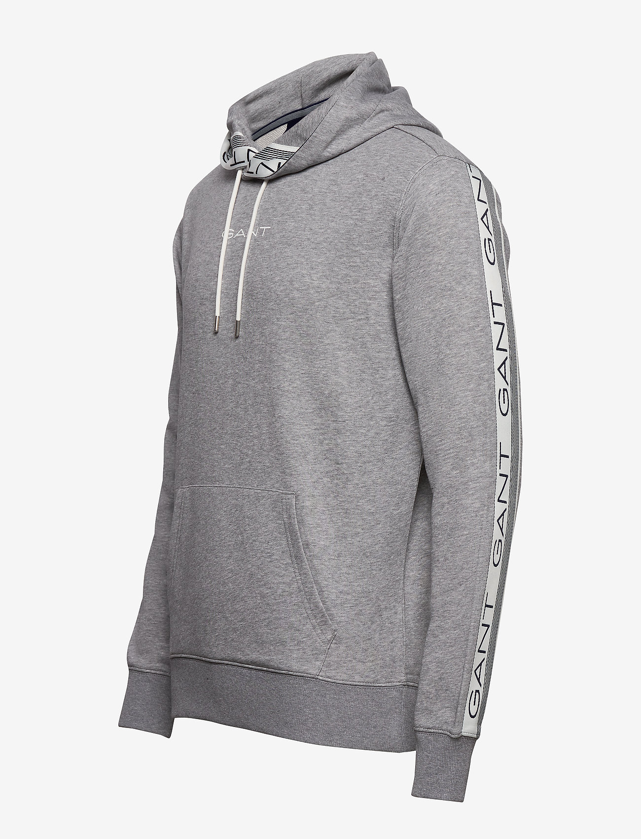 GANT D1. 13 STRIPES SWEAT HOODIE - Sweatshirts GREY MELANGE - Menn Klær
