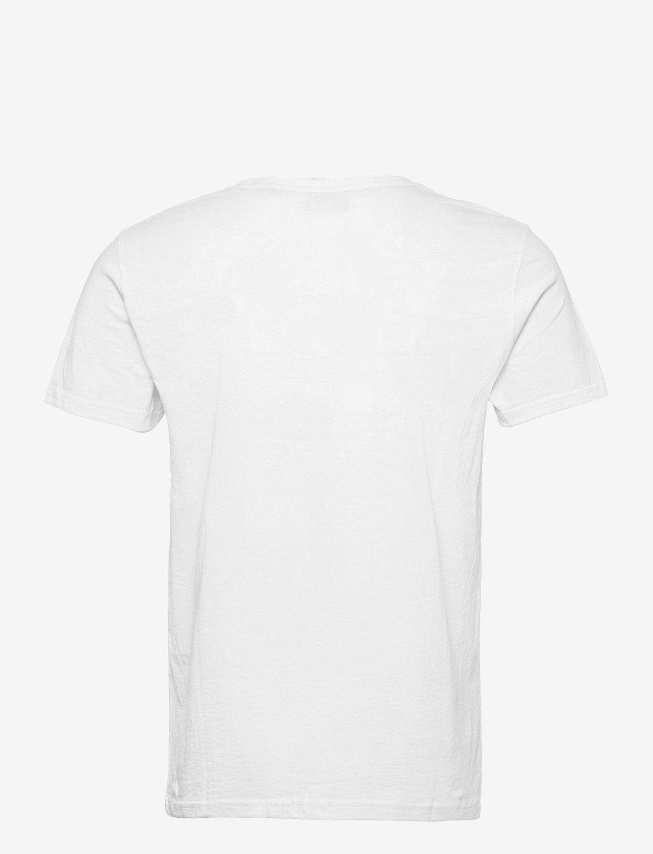 GANT - LOCK UP SS T-SHIRT - short-sleeved t-shirts - white - 1