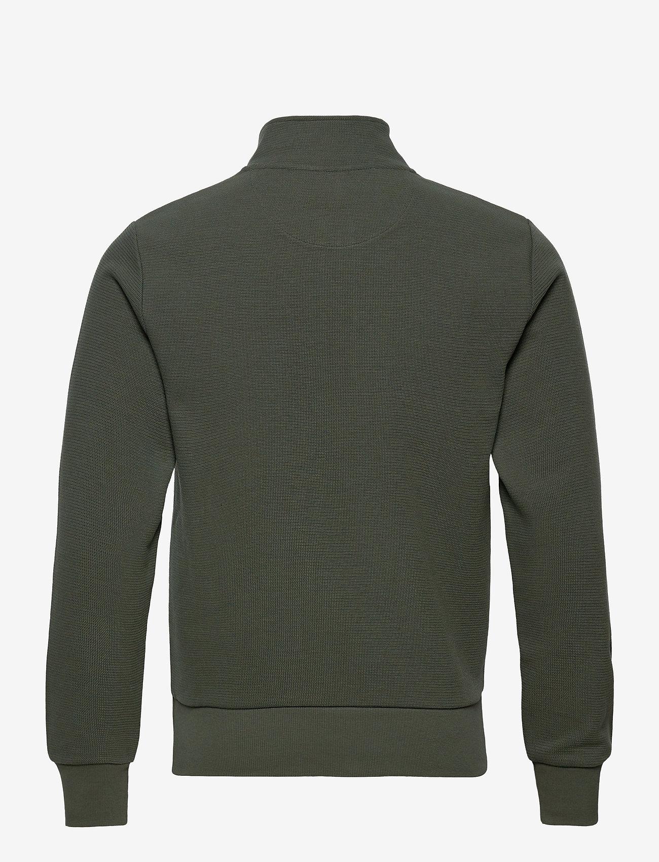 GANT - D2. STRUCTURE HALF ZIP - basic sweatshirts - thyme green - 1