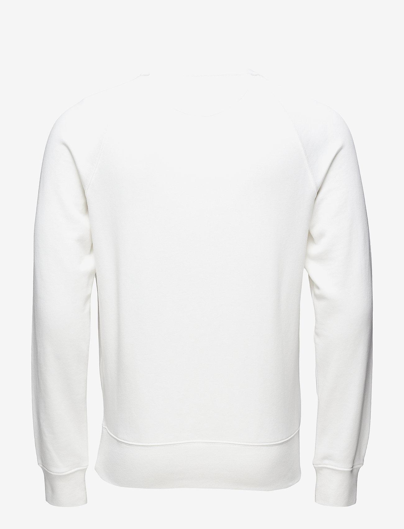 GANT - GANT SHIELD C-NECK SWEAT - sweatshirts - eggshell - 1