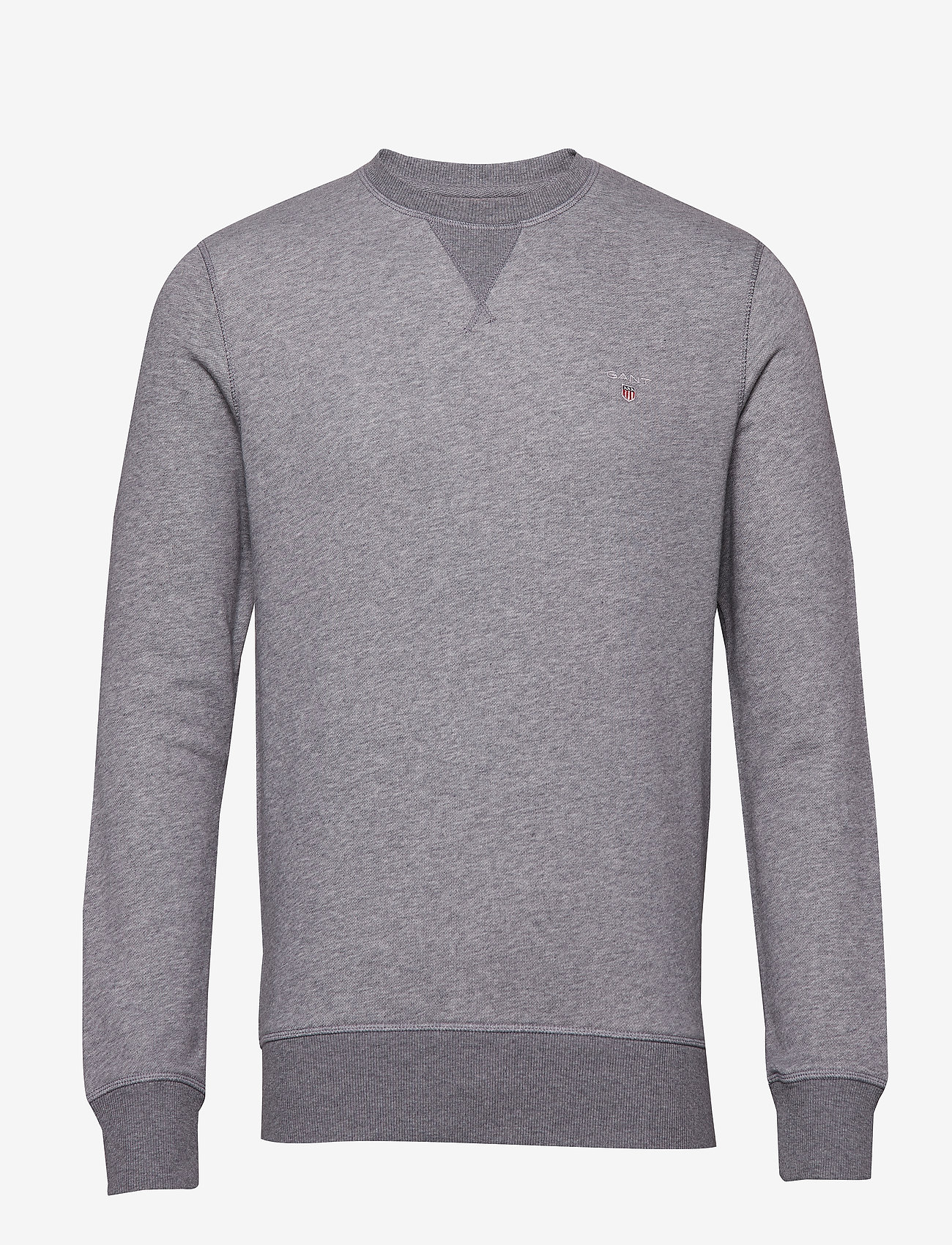 GANT - THE ORIGINAL C-NECK SWEAT - basic-sweatshirts - dark grey melange - 0