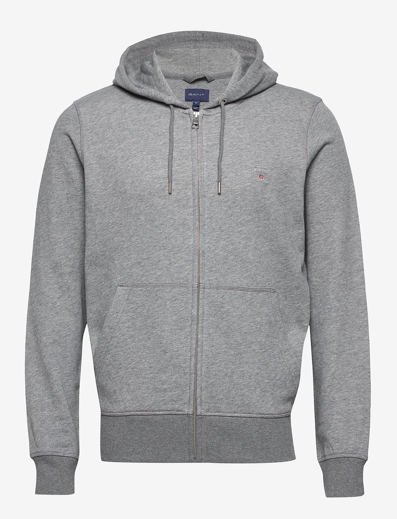GANT - THE ORIGINAL FULL ZIP HOODIE - hoodies - dark grey melange - 0