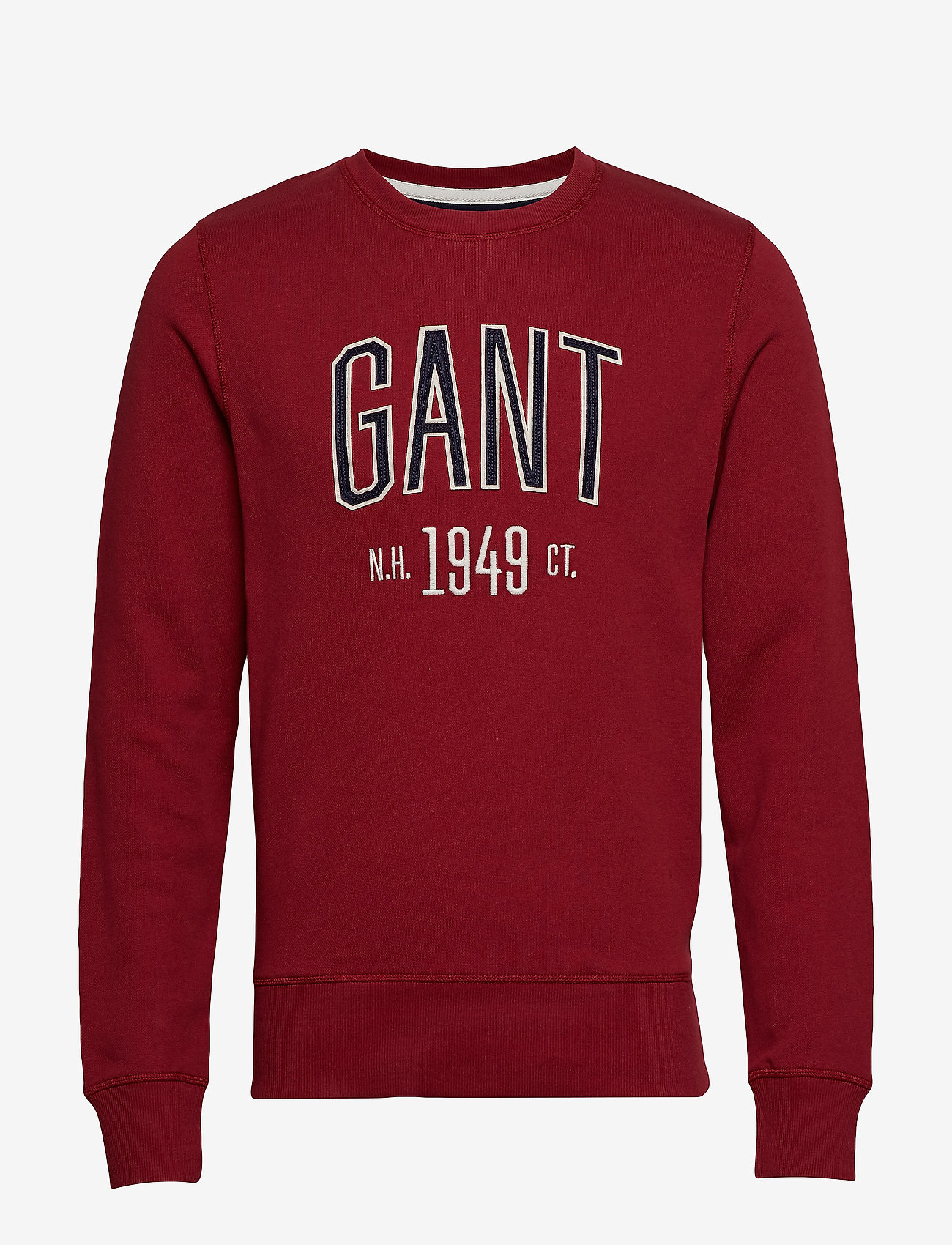 Gant - D1. GRAPHIC C-NECK SWEAT - svetarit - mahogny red
