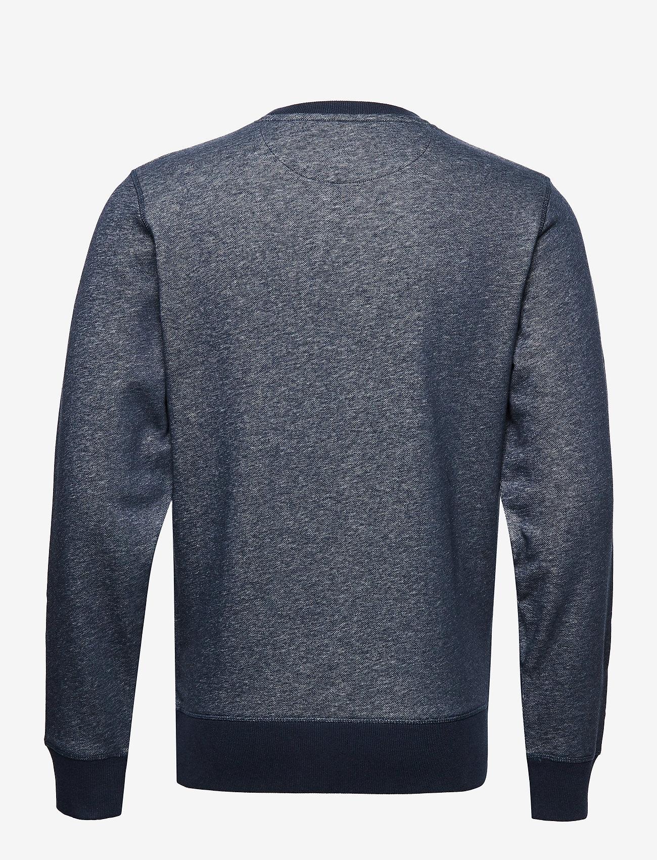 Gant D1. Graphic C-neck Sweat - Sweatshirts Dark Navy Melange